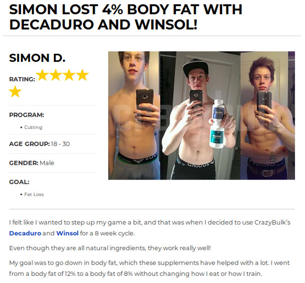 Simon Lost 7% Body Fat