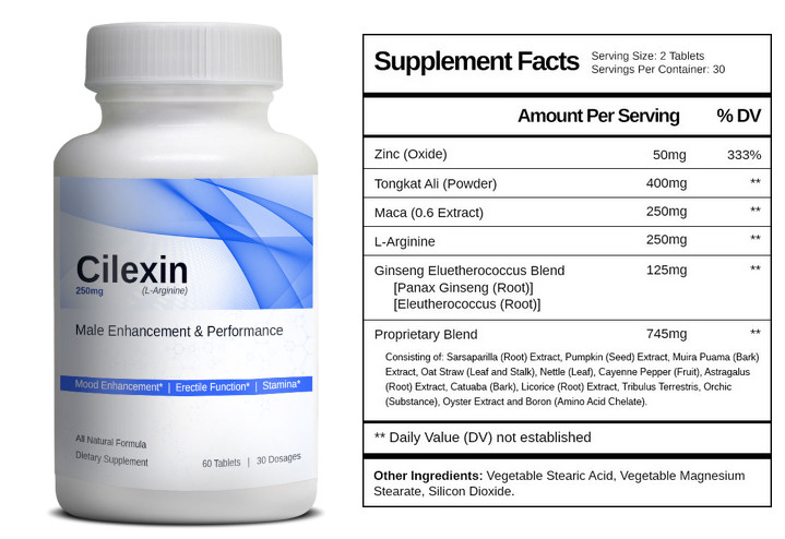 Cilexin Ingredients Label